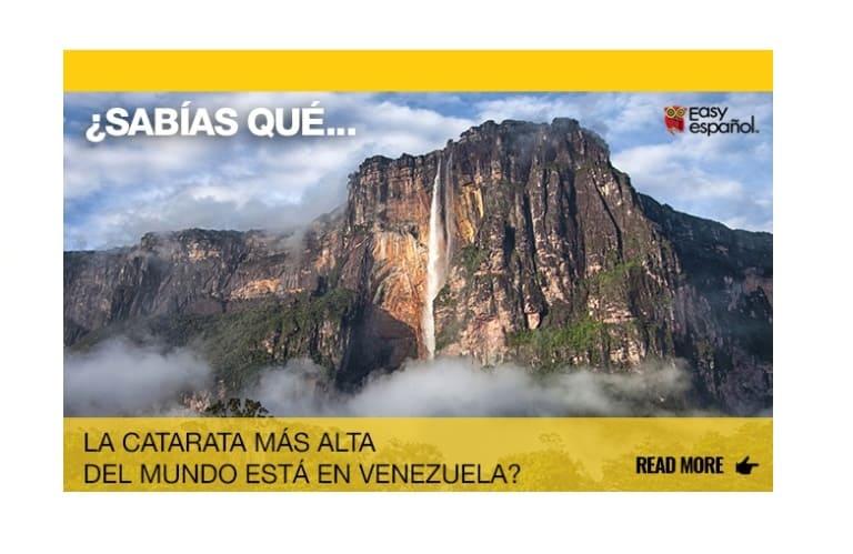 ¿Sabías que la catarata del mundo está en Venezuela? - Easy Español