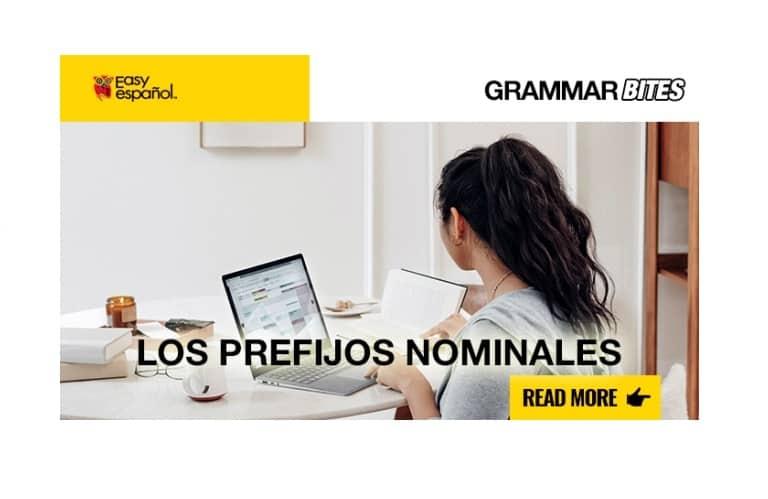 Los prefijos nominales - Easy Español