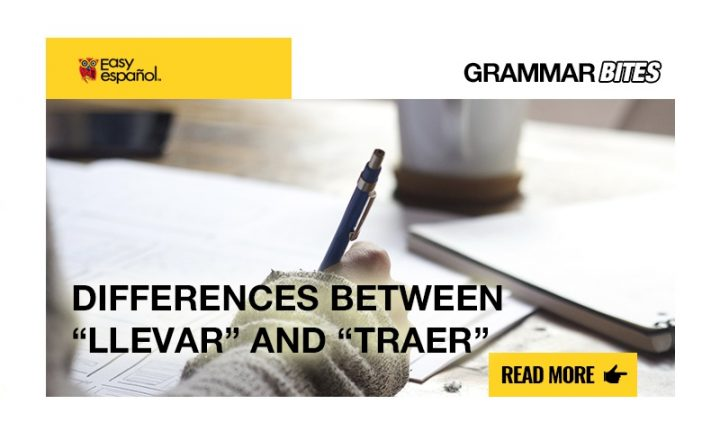 "Differences between ""llevar""and ""traer"" - Easy Español"