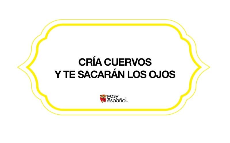 Saying of the Day: Cría cuervos y te sacarán los ojos - Easy Español