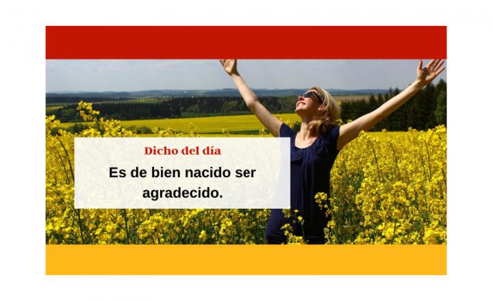 Saying of the day: Es de bien nacido ser agradecido - Easy Español