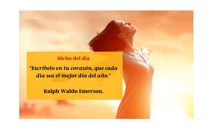 """""""Escríbelo en tu corazón, que cada día sea el mejor día del año"""" - Easy Español"""