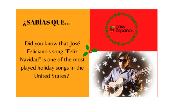 """Did you know that José Feliciano's song """"Feliz Navidad"""" is one of the most played holiday songs in the United States? - Easy Español"""