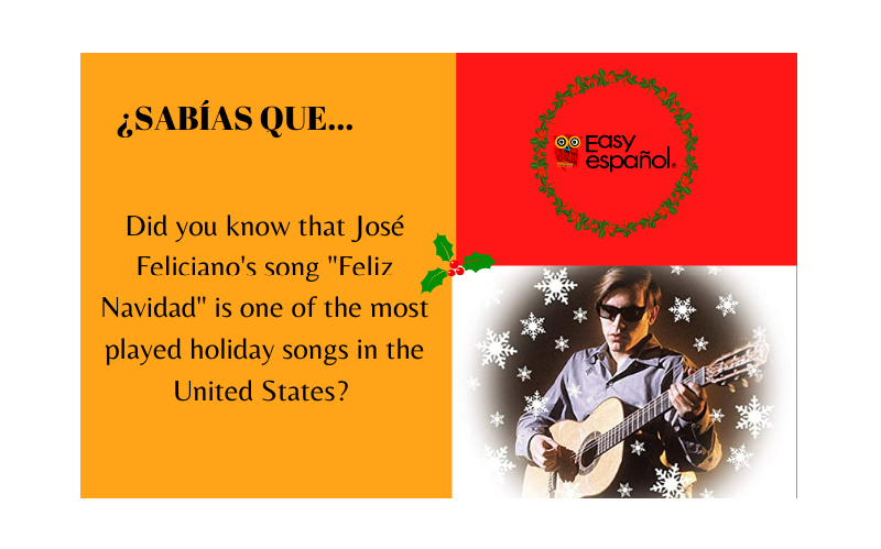 "Did you know that José Feliciano's song ""Feliz Navidad"" is one of the most played holiday songs in the United States? - Easy Español"