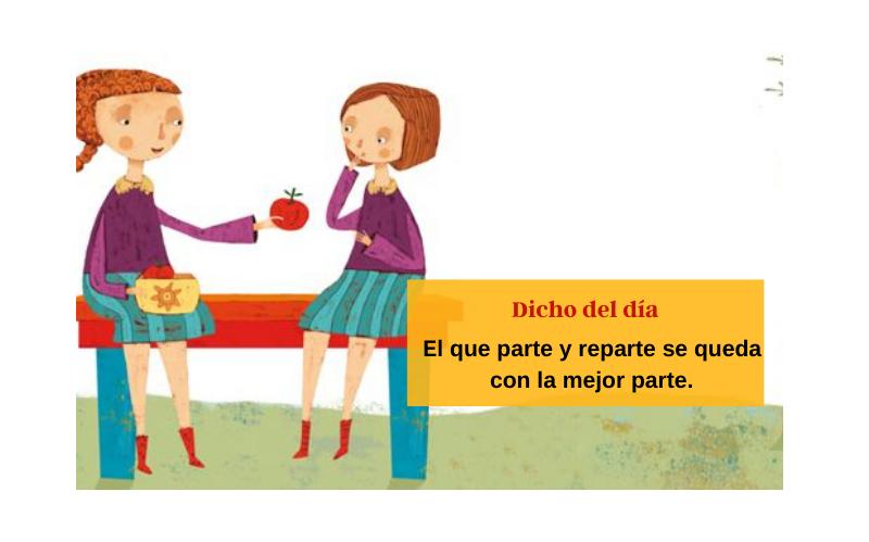 Saying of the day: El que parte y reparte se queda con la mejor parte - Easy Español
