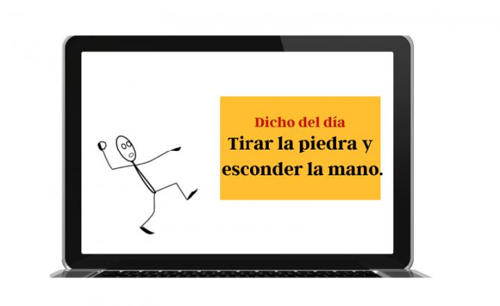 Saying of the day: Tirar la piedra y esconder la mano - Easy Español