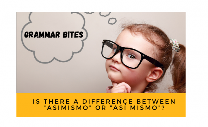Is there a difference between asimismo or así mismo? - Easy Español