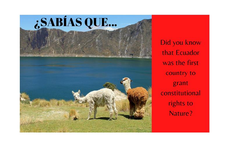 ¿Sabías que Ecuador fue el primer país del mundo en dar derechos constitucionales a la Naturaleza? - Easy Español