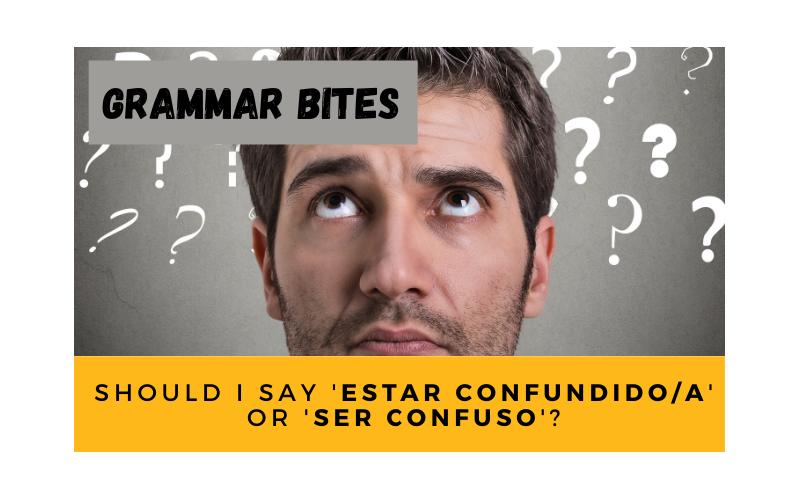 'Estar confundido/a' or 'ser confuso/a'? - Easy Español