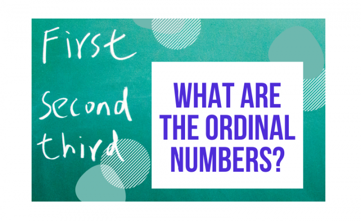 What are the ordinal numbers? - Easy Español